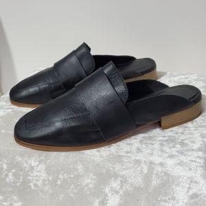 Free People Leather Black Mules